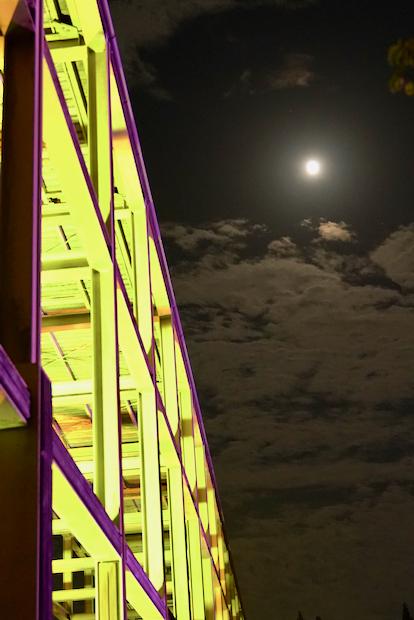 観月橋と十五夜の月